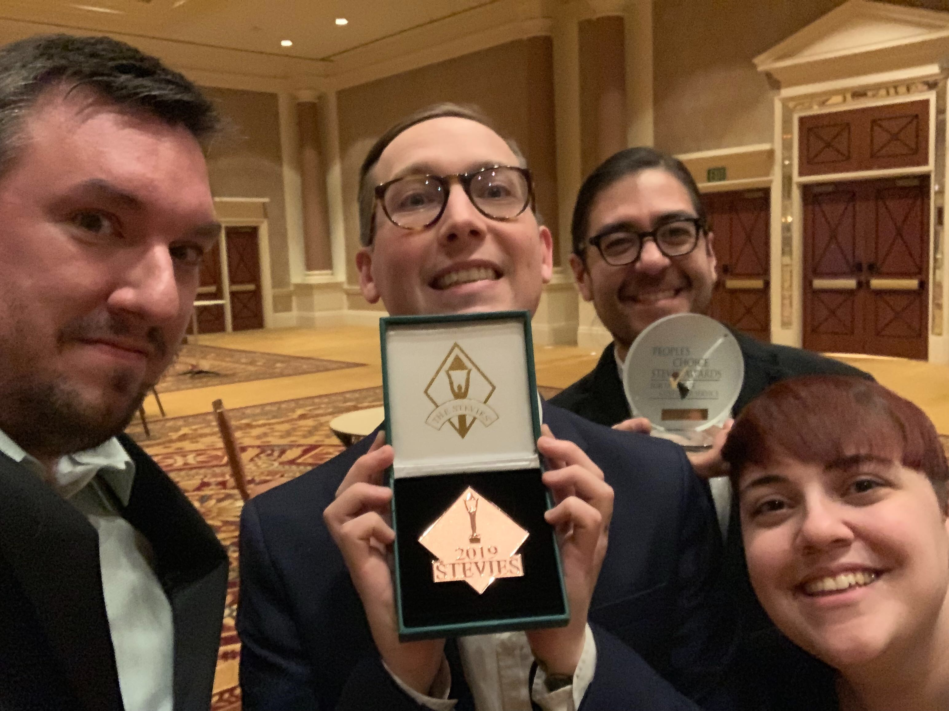 A Few Linodians at the 2018 Stevie Awards